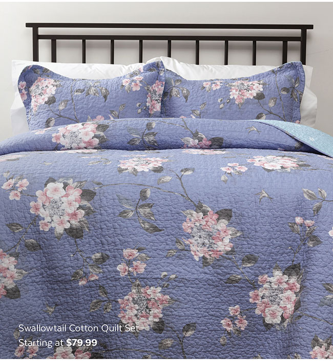Swallowtail Cotton Quilt Set