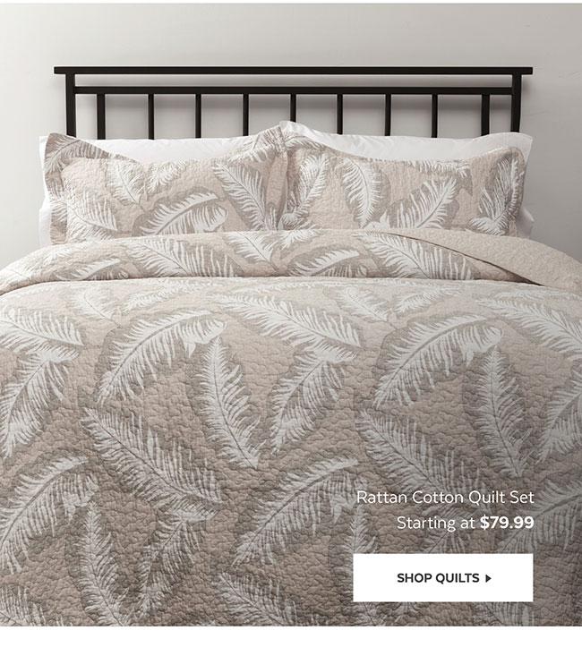 Rattan Cotton Quilt Set