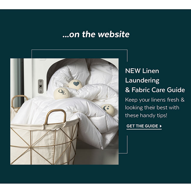 Laundering & Fabric Care Guide
