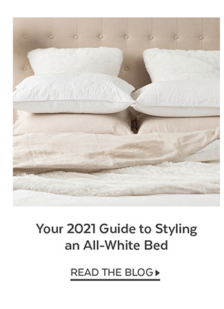 Your 2021 Guide to Styling an All-White Bed