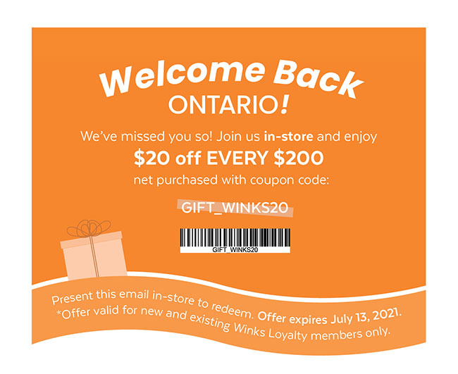 Welcome Back Ontario!
