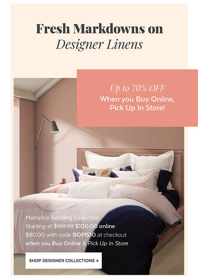 Fresh Markdowns on Designer Linens