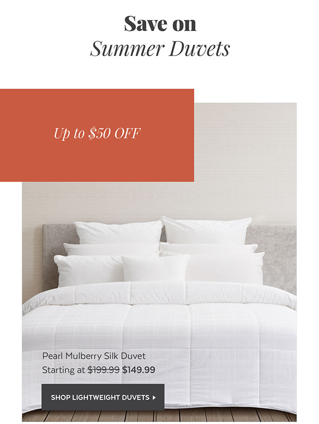 Save on Summer Duvets