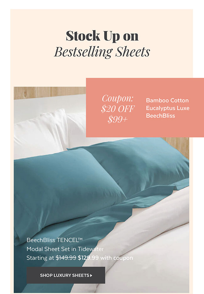 Stock Up on Bestselling sheets