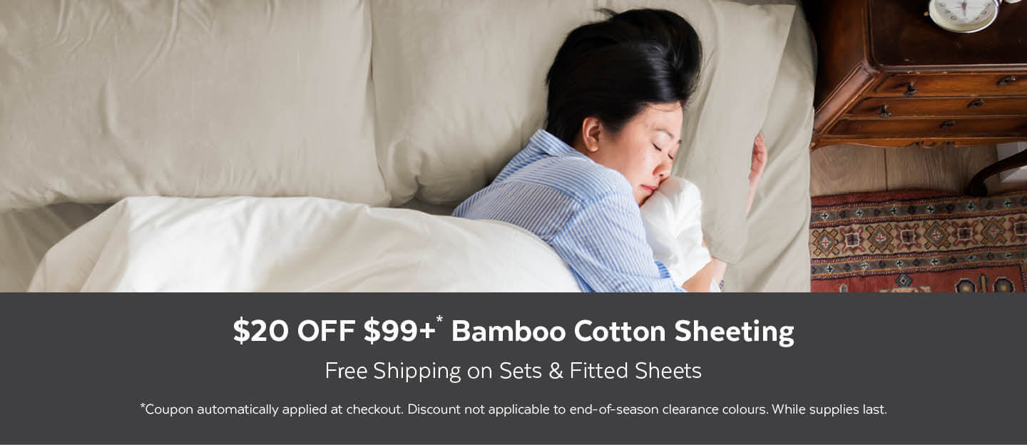 Bamboo Cotton Sheeting $20 OFF $99+