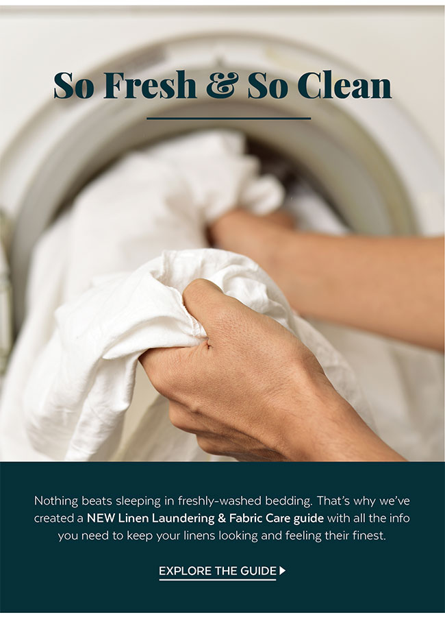 New Linen Laundering & Fabric Care guide
