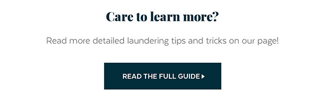 Laundering Tips and Tricks