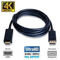 UPTab DisplayPort 1.4 to HDMI 2.0b Active Cable 6FT with HDR - Description