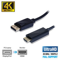 UPTab DisplayPort 1.4 to HDMI 2.0b Active Cable 6FT with HDR