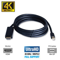 UPTab Mini DisplayPort 1.4 to HDMI 2.0b Active Cable 6FT HDR - Annotations