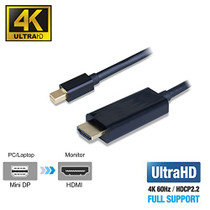 UPTab Mini DisplayPort 1.4 to HDMI 2.0b Active Cable 6FT HDR