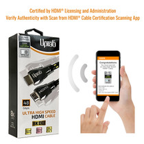 Numérisez avec l'application HDMI pour vérifier l'authenticité.