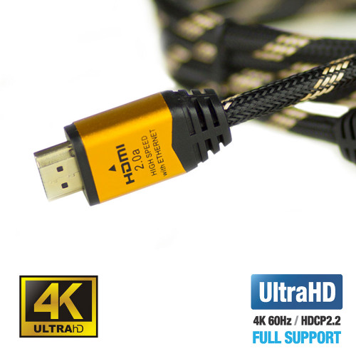 UPTab High Speed HDMI 2.0a Braided 6ft Cable HDR 4K 60Hz