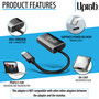 UPTab USB-C (Type C) to Mini DisplayPort Adapter 4K@60Hz - Graphite - back