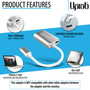 UPTab USB-C (Type C) to Mini DisplayPort Adapter 4K@60Hz - Silver - Back