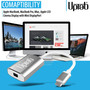 UPTab Adaptador USB-C (Tipo C) a Mini DisplayPort 4K @ 60Hz - Plateado - Soporte de productos Apple