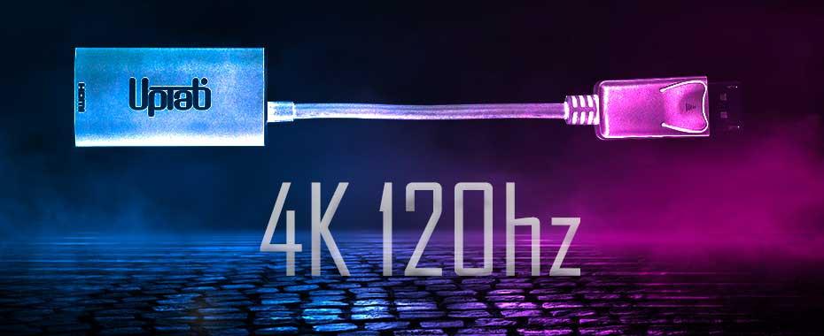 120Hz Gaming, DisplayPort to HDMI, 8K Adapter