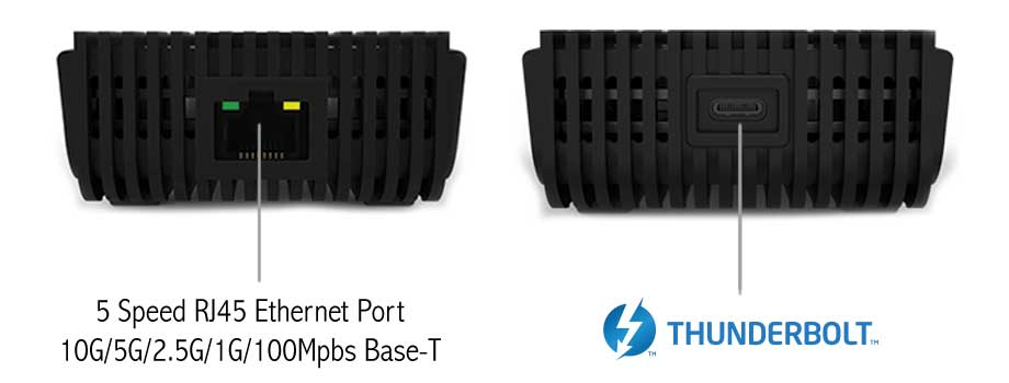 UPTab Thunderbolt 3 til 10 Gbps Ethernet Adapter