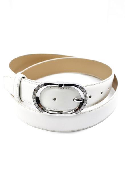 Contemporary White Ladies Belt