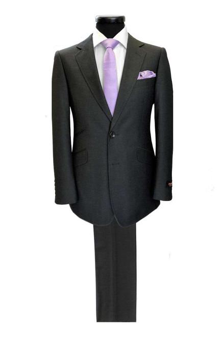 Charcoal 2-button Regular Fit Suit Men's Suit