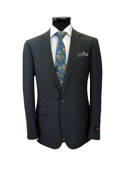 Charcoal 1-button Regular Fit Suit Men's Suit
