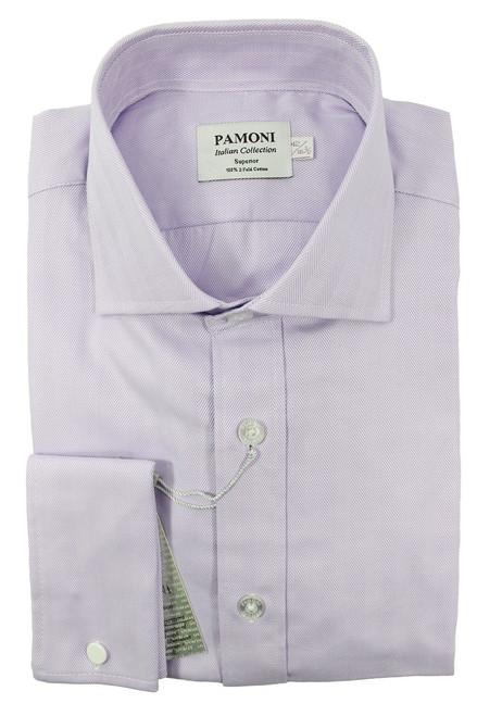 Slim Fit Lilac Herringbone Shirt