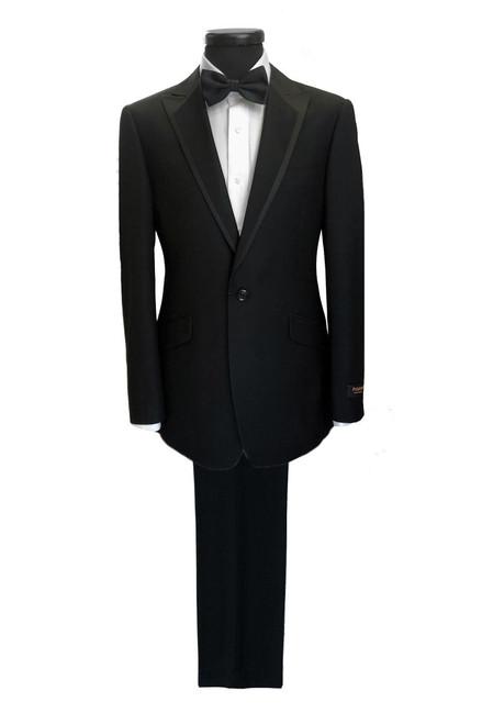 Black 1-button Dinner Suit