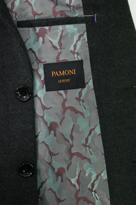 Charcoal Woolblend Overcoat