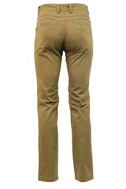 Back side shot of the camel slim fit chino - Pamoni