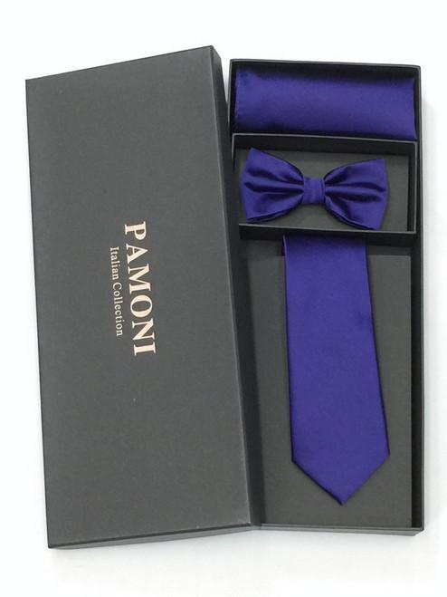 Violet Tie & Bow Tie Set