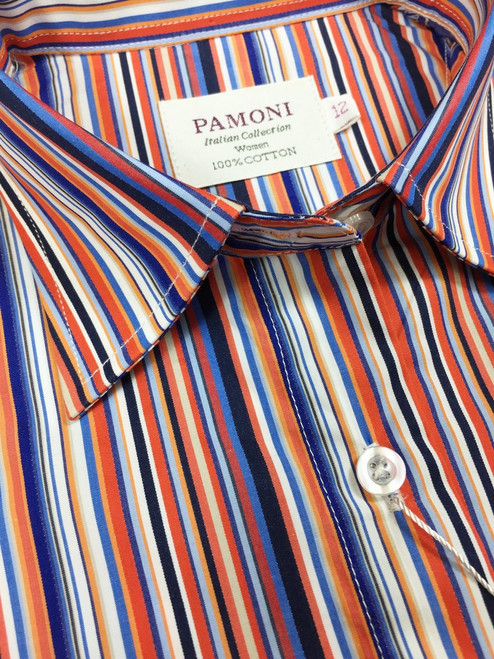 Multi Colour Stripes Fitted Shirt