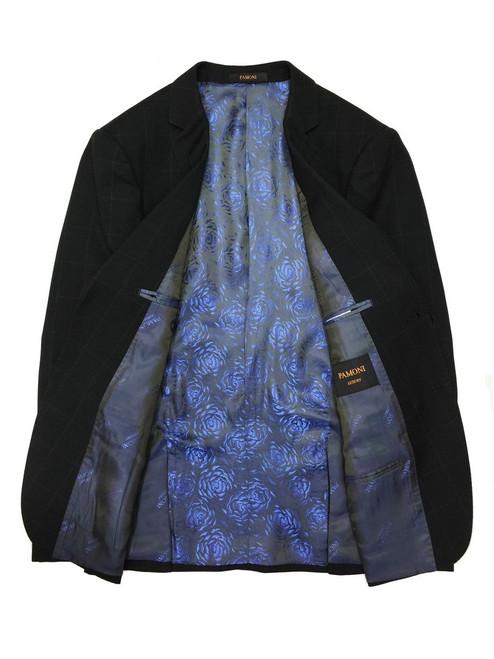 Black Check 2-button Slim Fit Suit