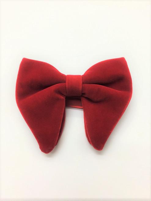 Red velvet bow tie - Pamoni