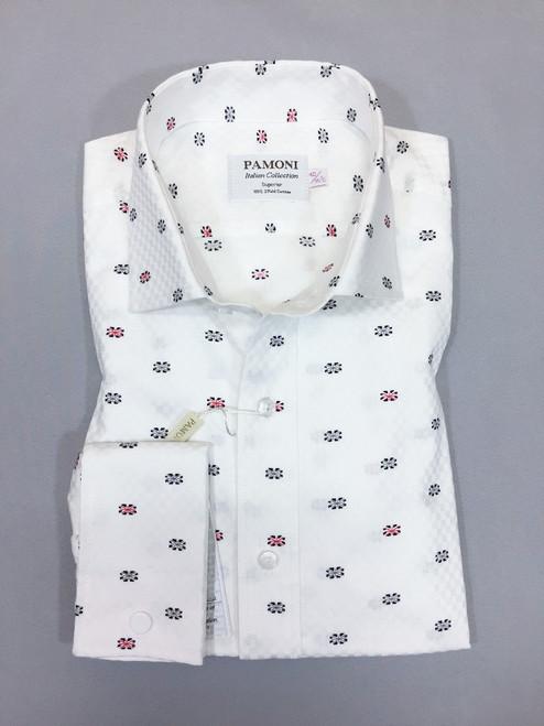 White Flag Print Slim Fit Shirt