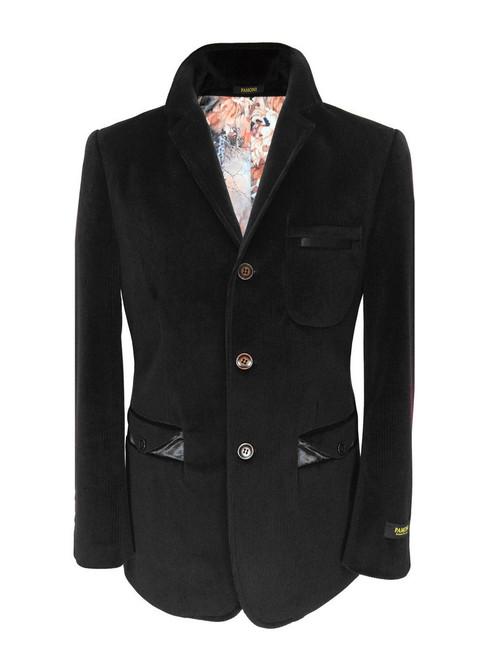 Black Velvet Casual Jacket - Pamoni