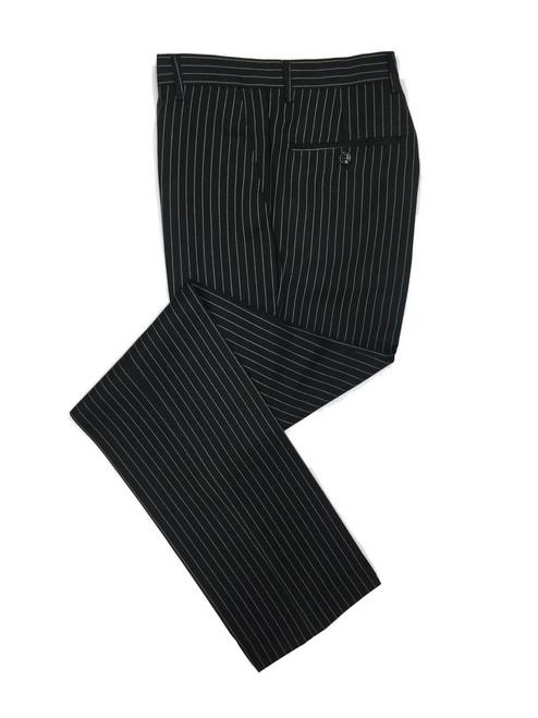 Black Pinstripe 2-button Slim Fit Suit