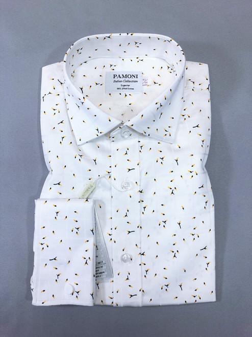 Pollen Motif Pure Cotton Shirt - Pamoni