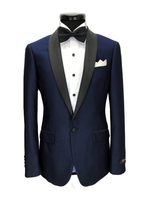 Blue Slim Fit Dinner Suit