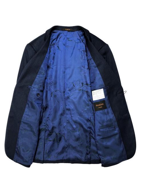 Blue Herringbone 2 Button 3-piece Suit