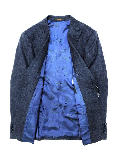 Blue Sharkskin 2 Button 3-piece Suit