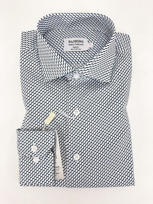 White Wavy Line Shirt
