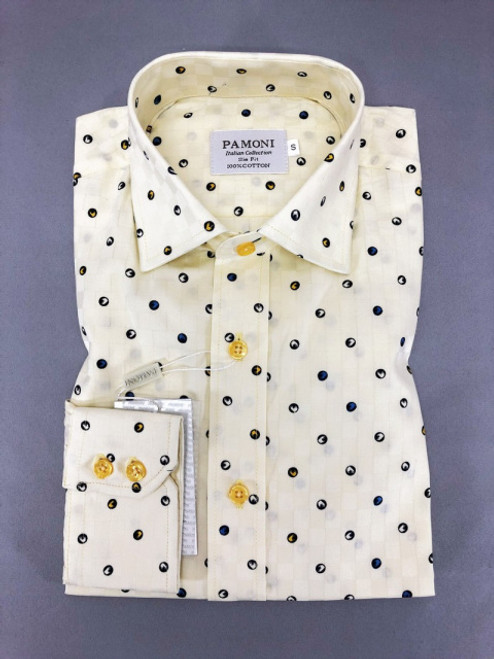 Spotted Print Slim Fit Shirt