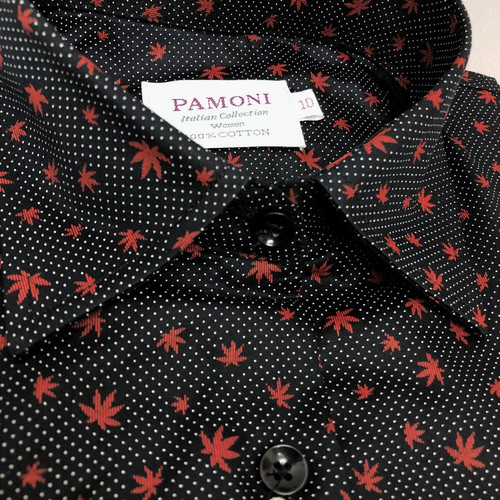 Close up of Maple Leaf Pure Cotton Shirt