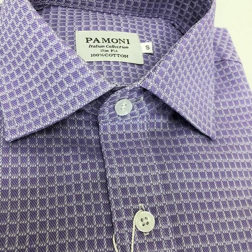 lilac check shirt - pamoni