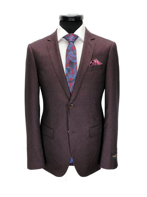Burgundy 2-button Slim Fit Suit