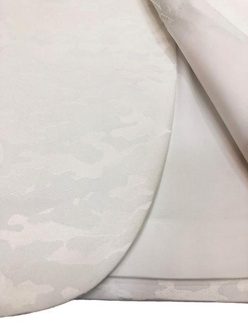 Cream Jacquard Brocade tuxedo wool blend material - Pamoni