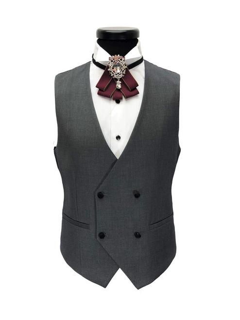 Grey 3-piece Tuxedo With Black Shawl Lapel