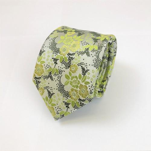 Green Flower Floral Tie