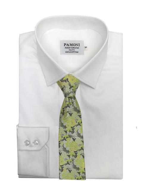 Green Flower Floral Tie model
