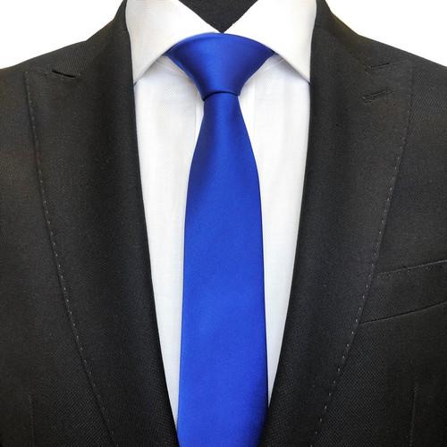 Royal blue classic plain tie